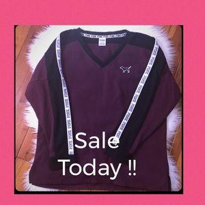 PINK Varsity Crew Boyfriend -Large Price Firm !